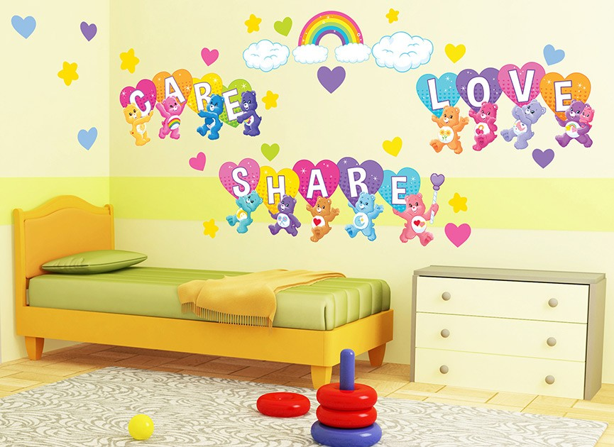 Motivational wall decals and wall graphics shop wall ah for Care bears wall mural