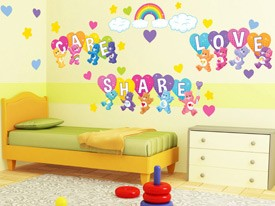 Care Bears Love, Share Wall Decals