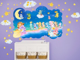 Care Bears Walking on Clouds Wall Decals