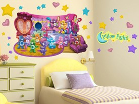 Care Bears Pillow Fight Wall Decal