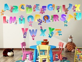Care Bears Rainbow Alphabet Wall Decals