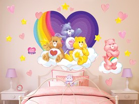 Care Bears Rainbow Heart Wall Decal Set