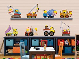Construction Kids Wall Decal Set