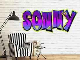 Customizable 90's Graffiti Font Wall Decals