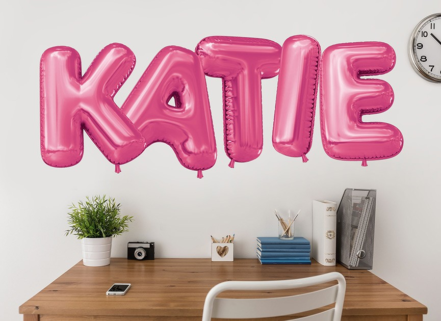 Customizable Balloon Font Wall Decals