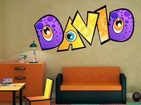 Customizable Monster Font Wall Decals