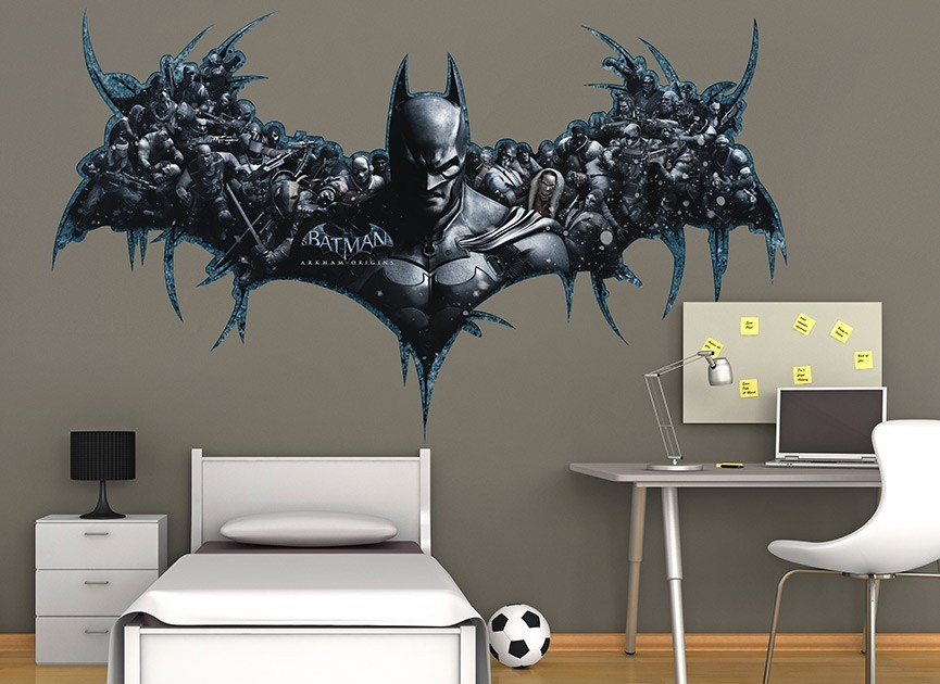 Batman arkham origins bat symbol wall decal for Batman wall mural decal