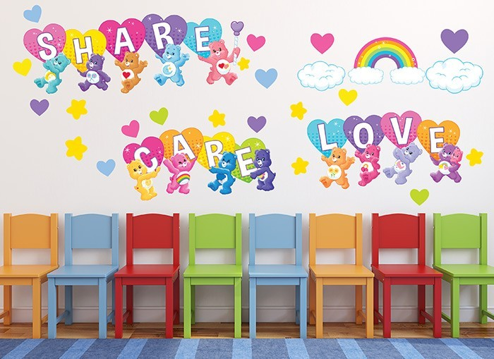 Care bears love share wall decals for Care bears wall mural