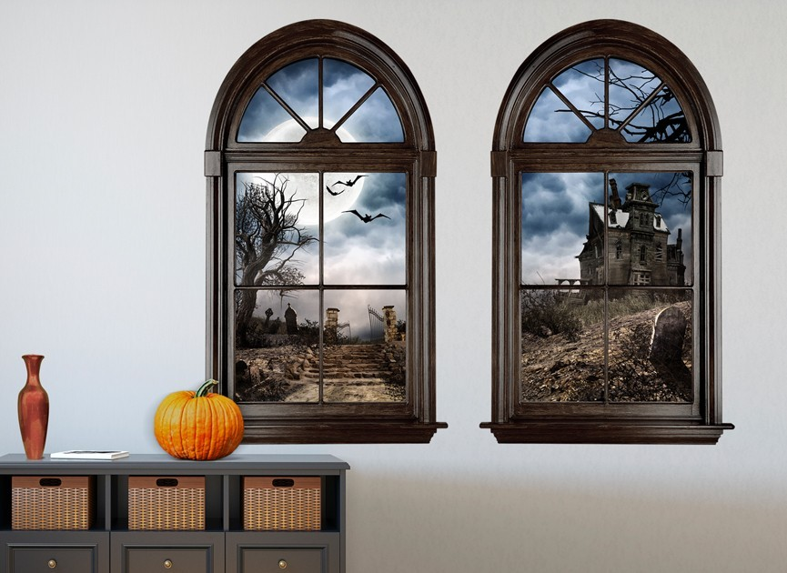 Haunted Mansion Window Wall Decal