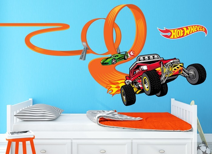 Hot Wheels Cars Loop Wall Decal Set