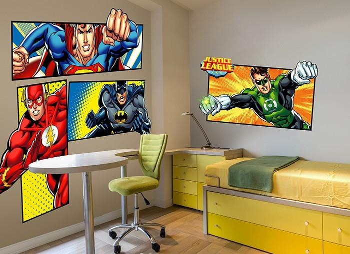 High Quality Justice League Superhero Wall Decal Set