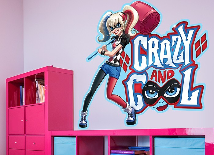 Dc Super Hero Girls Harley Quinn Wall Decal