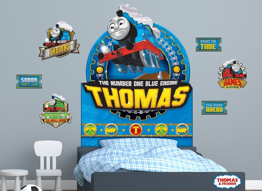 thomas friends headboard or wall decal 4. Black Bedroom Furniture Sets. Home Design Ideas