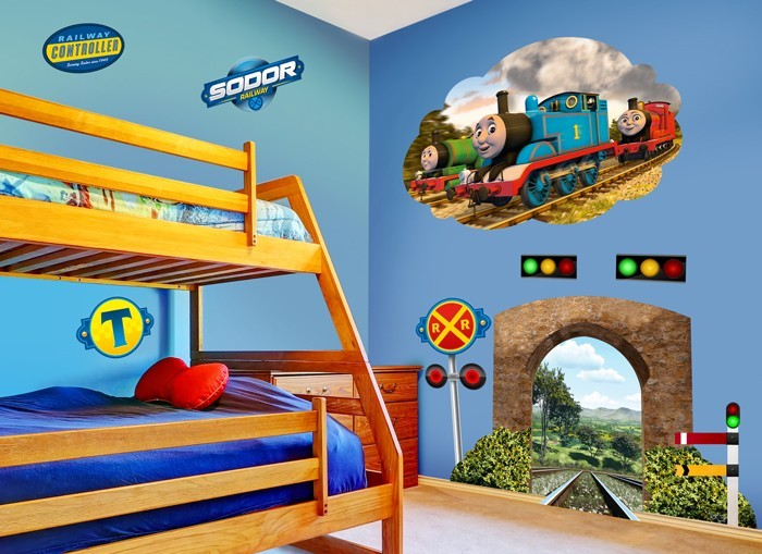 thomas friends tunnel wall decal set. Black Bedroom Furniture Sets. Home Design Ideas