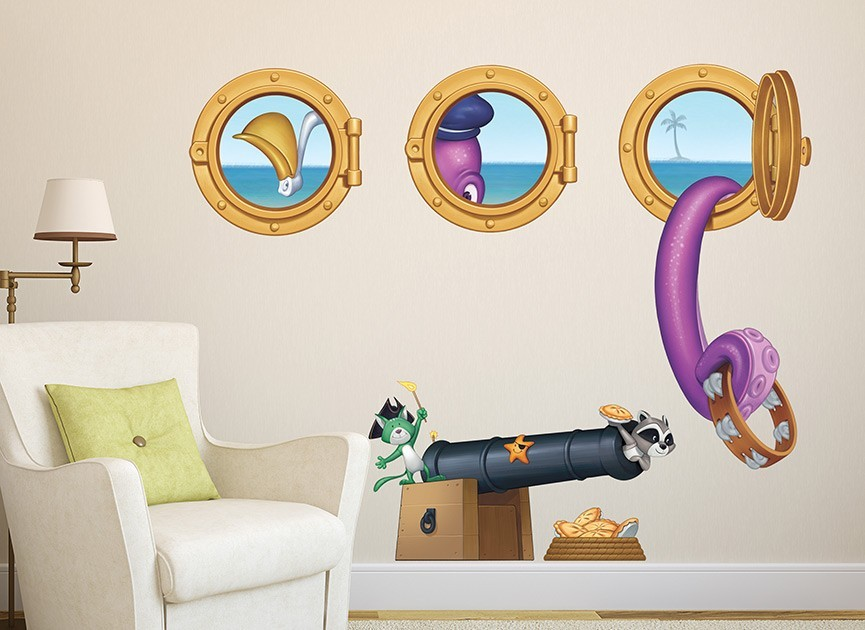 Toy Pirates Wall Decal Set 2