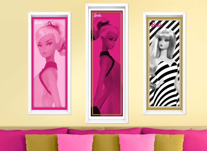 Barbie Faux Framed Art Wall Decals