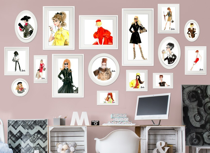 Barbie-framed-fashion-design-wall-decal
