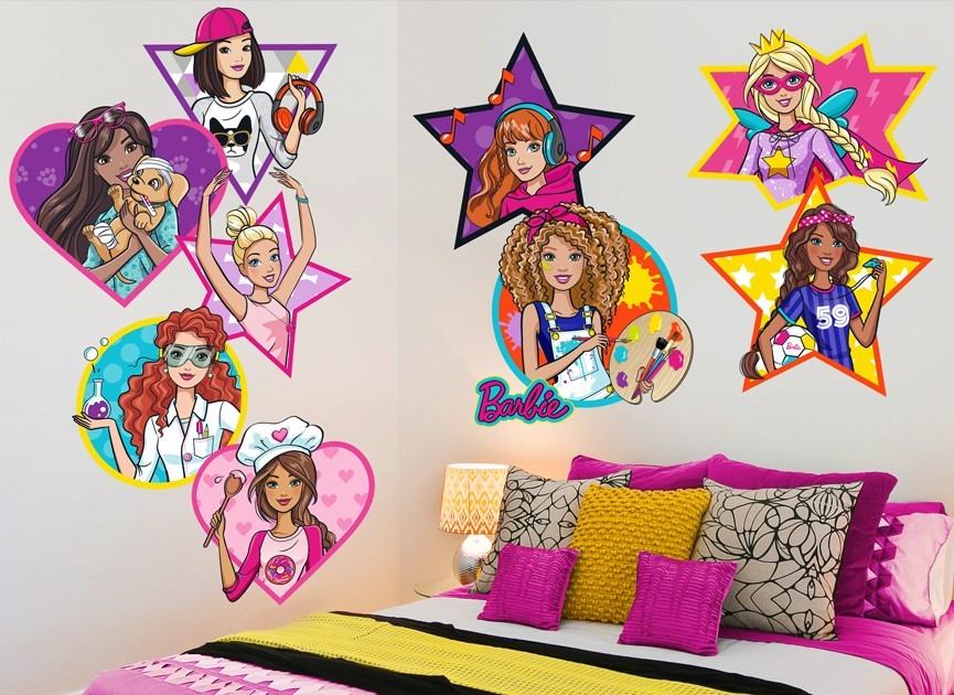 Barbie & Friends Wall Decal Set 2
