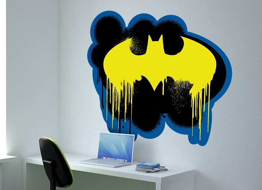 Batman Bat Symbol Spray PAINT Wall Decal