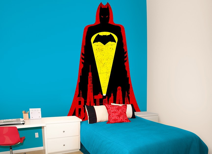 Batman vs Superman Batman Headboard Wall Decal
