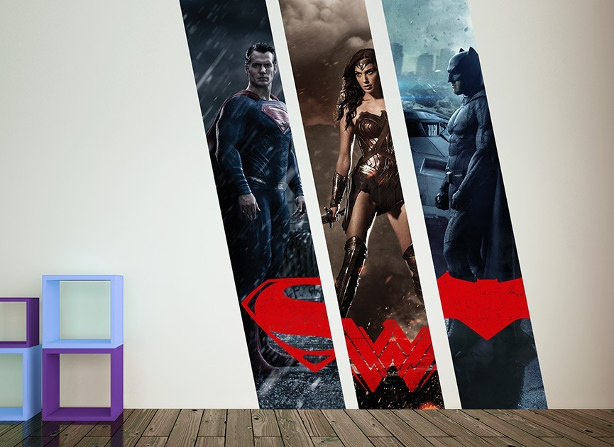 Batman vs Superman Character Wall Decal