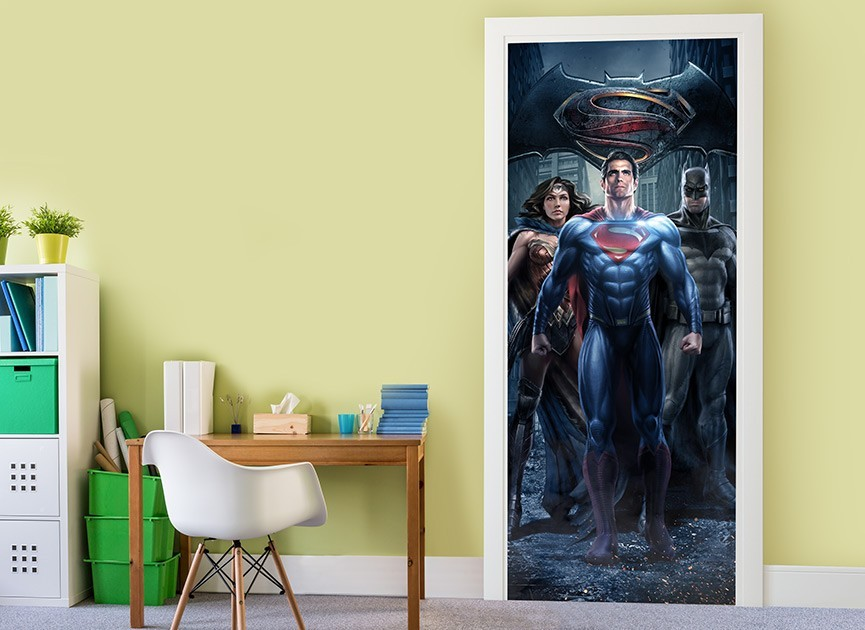 Batman vs Superman Door 1 Wall Decal