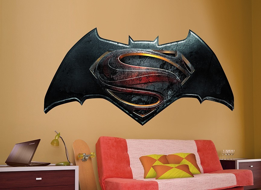 Batman vs Superman Symbol Wall Decal