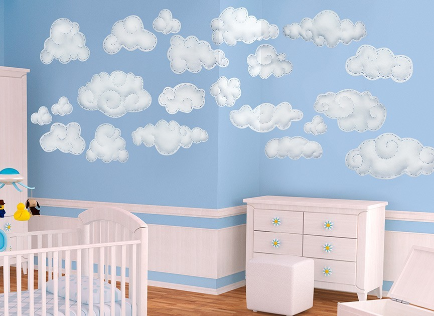 Blue Cloud Wall Decals