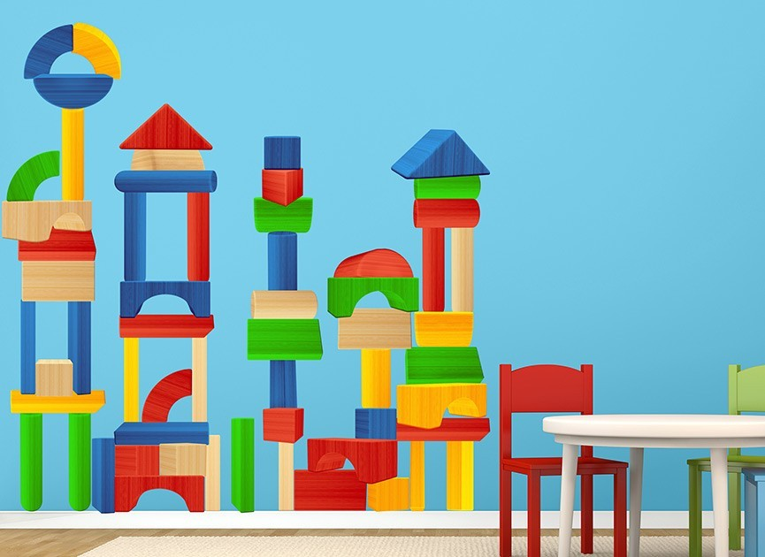 Building Blocks Wall Decals