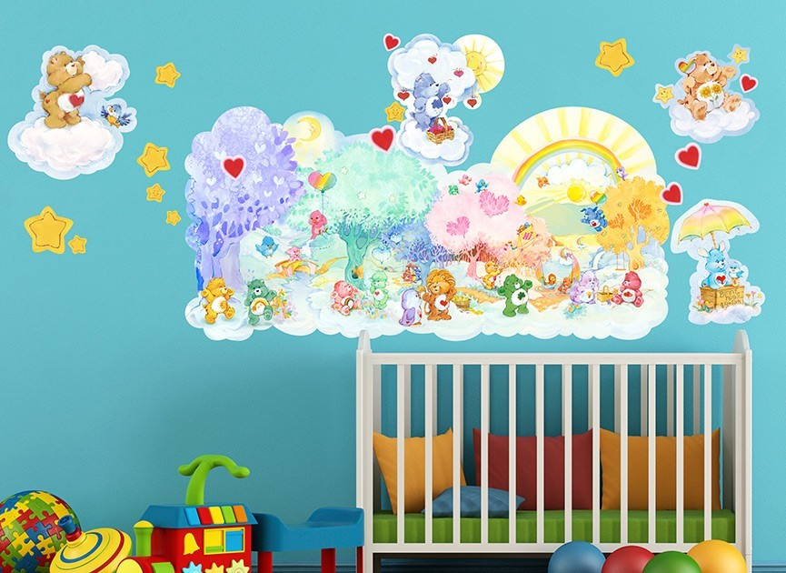 Care bears forest of feelings wall decals for Care bears wall mural
