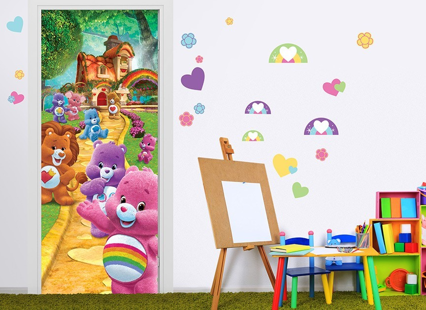 Care bear doorway to care a lot wall decal for Care bears wall mural