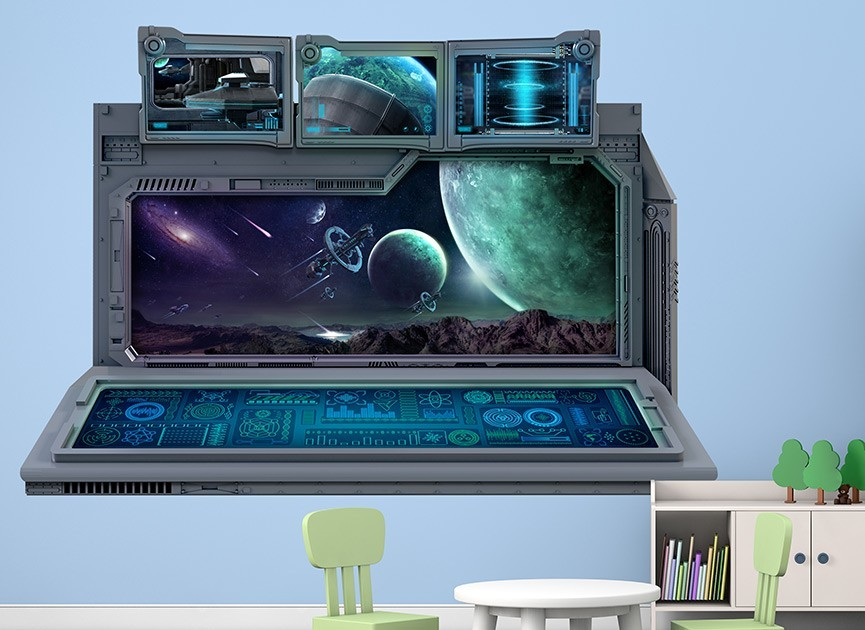 Spaceship Command Center Wall Decal