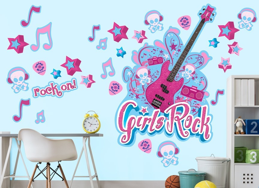 Daisy-Rock-pink-guitar-wall-decal