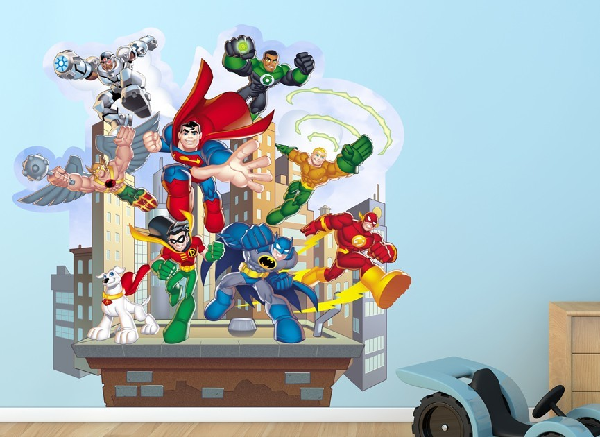 Decorate With These DC Super Friends Wall Decals. These Super Hero Wall  Graphics Will Transform
