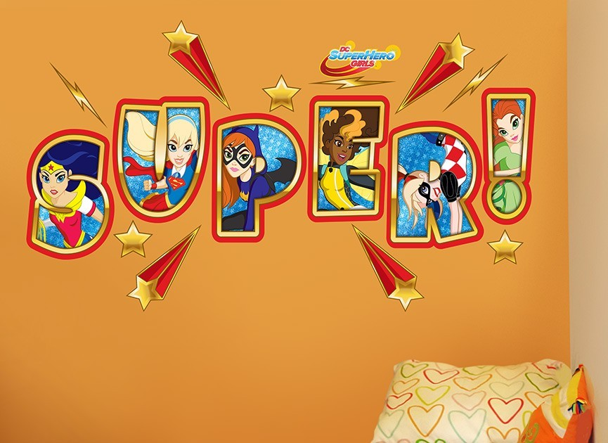 DC Super Hero Girl Logo Wall Decal  sc 1 st  Wall-Ah! & DC Super Hero Girls Wall Decal
