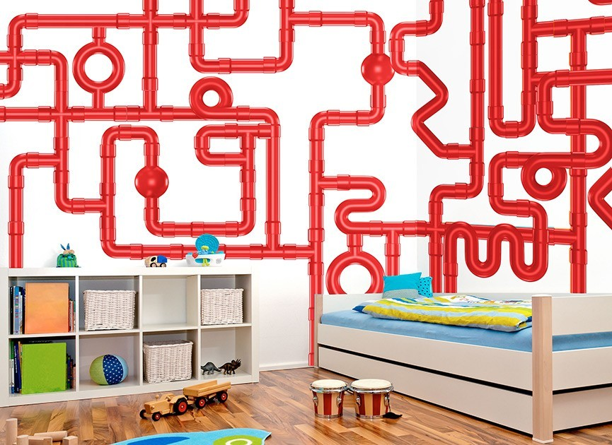 DIY Crazy Pipe Wall Decals