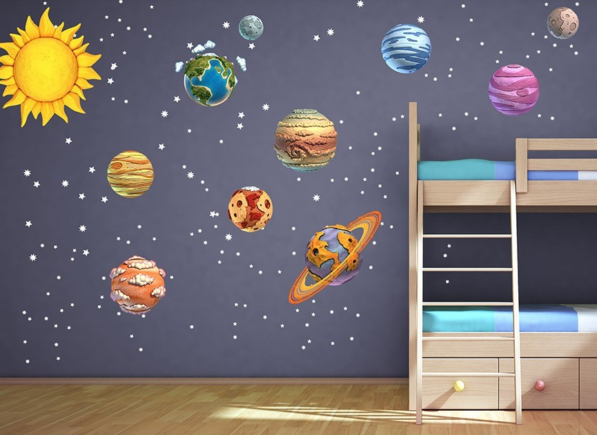 Superb DIY Solar System Wall Decals