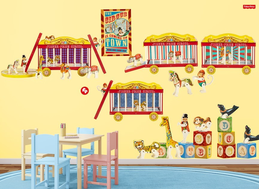 Fisher-Price Animal Circus Wall Decal Set