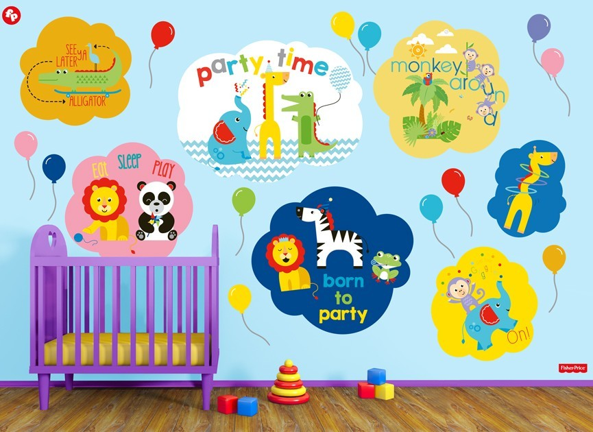 Fisher-Price-party-time-animals-wall-decal-