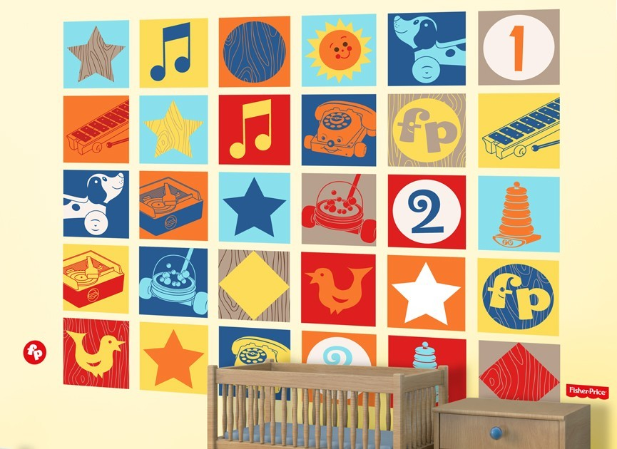 Fisher-Price-vintage-graphics-wall-decal