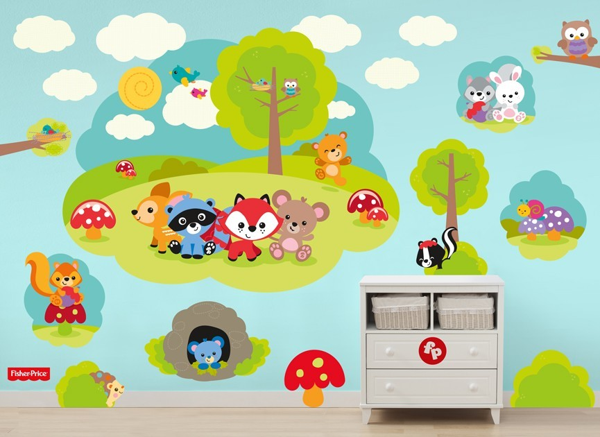 Fisher-Price-woodland-creature-wall-decal