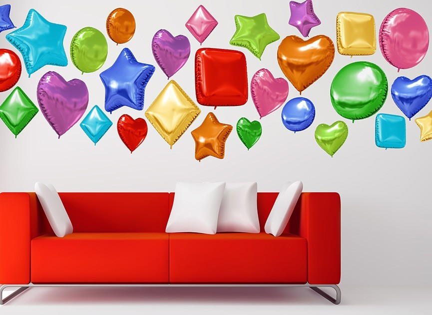 Fun Balloon Shape Wall Decals