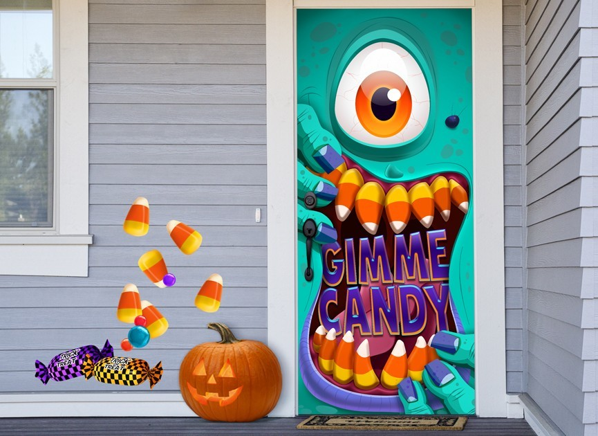 & Candy Zombie Wall or Door Decal