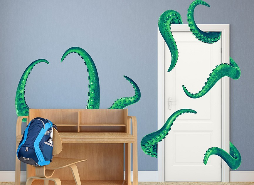 Monster Behind Your Door Wall Decal