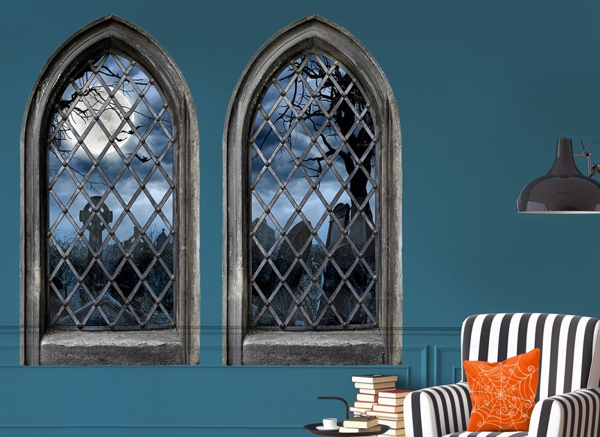 decorate for halloween with this fun wall decal these halloween wall graphics will transform any