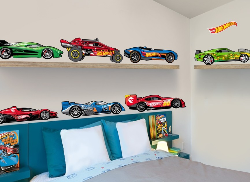 Etonnant Hot Wheels Cartoon Cars Wall Decal