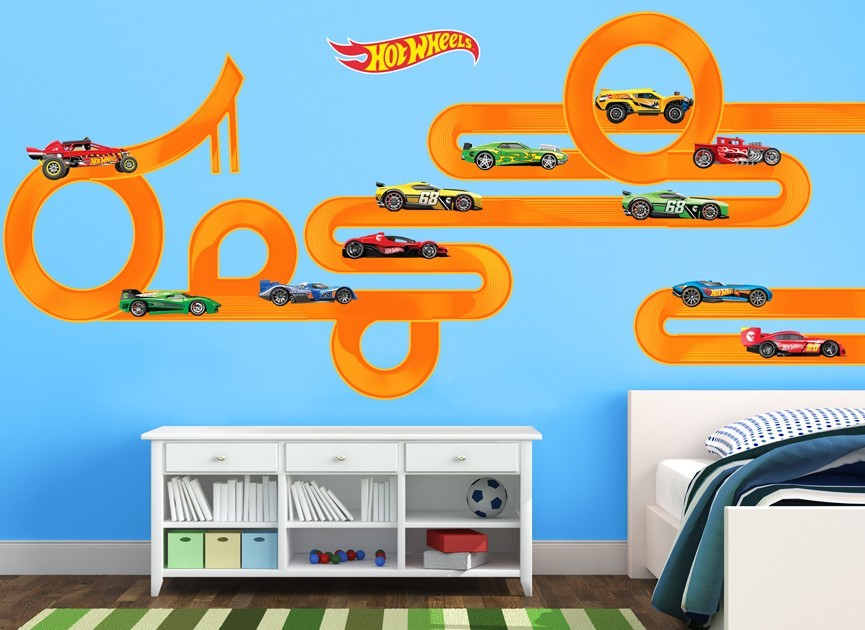 Nice Hot Wheels DIY Track Wall Decal Part 2
