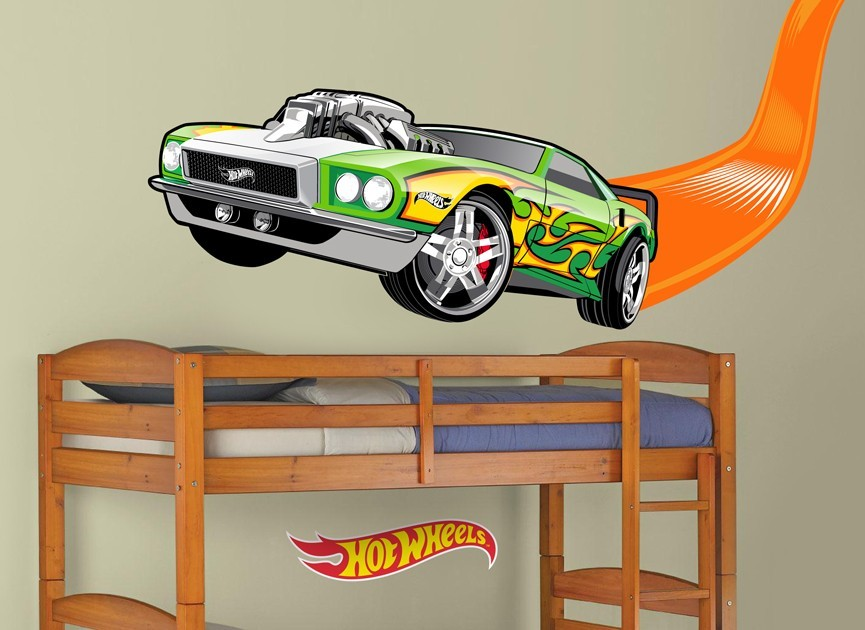 Hot-Wheels-flame-car-wall-decal : car wall decal - www.pureclipart.com