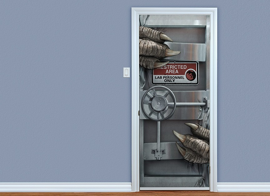 Jurassic World Lab Door Wall Decal