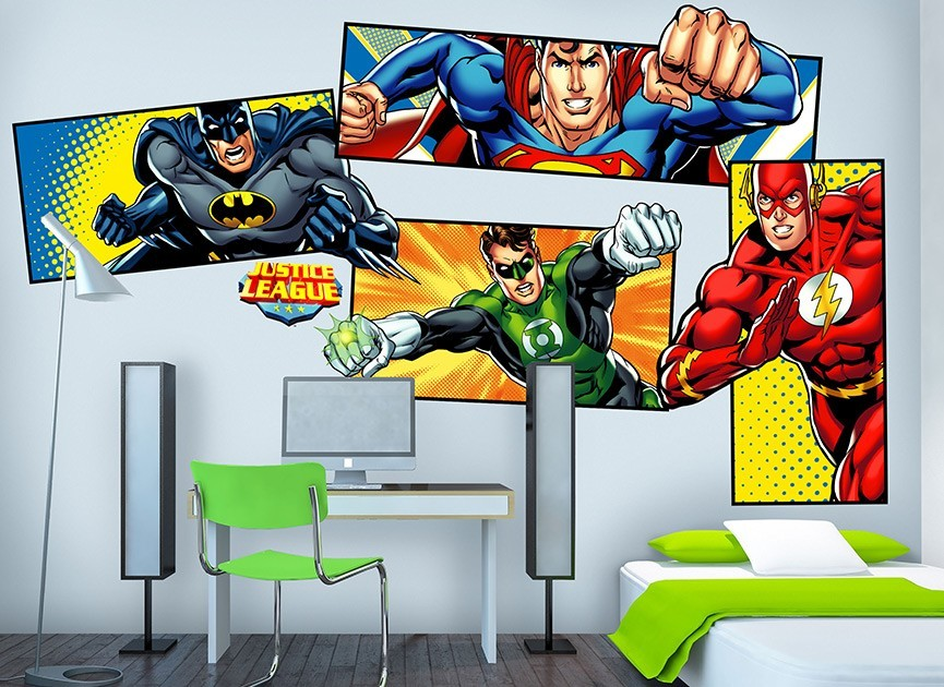 Delicieux Justice League Super Heroes Wall Decals